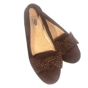 Ugg Flats with Studded Bow